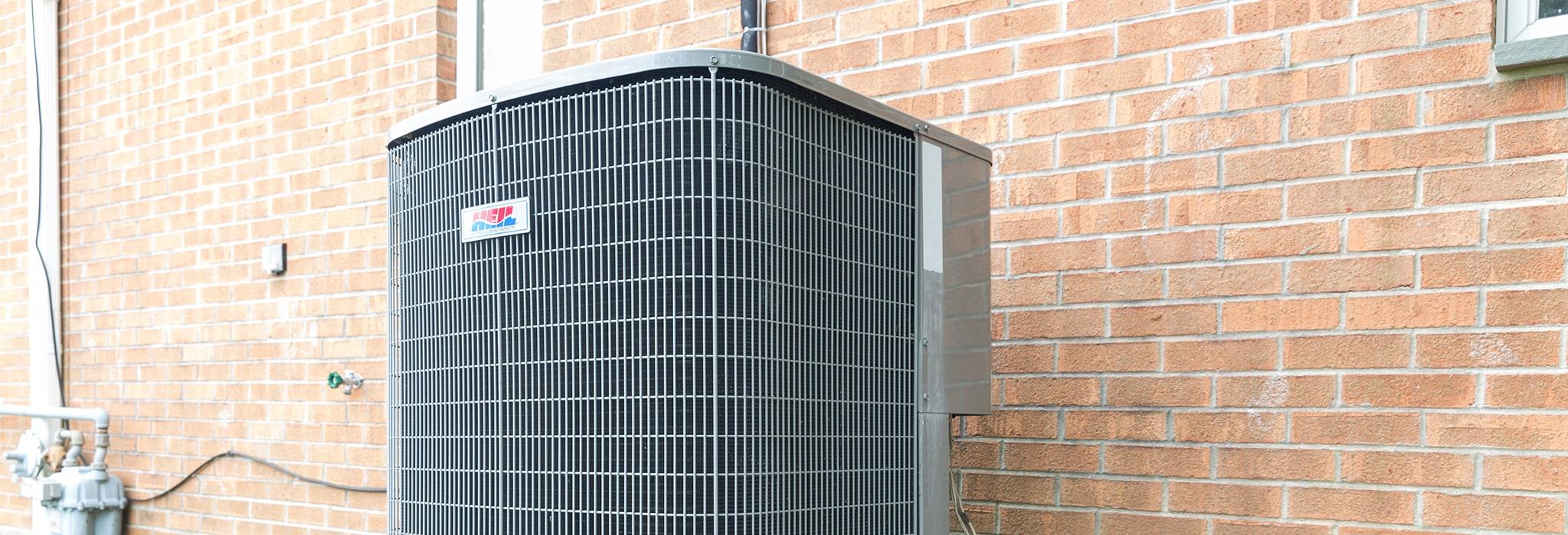 HVAC unit outside.