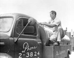 Burns & McBride original owner on a truck