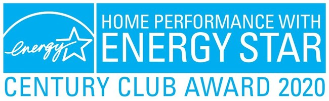 Home Performance with Energy Star Century Club Award 2020.